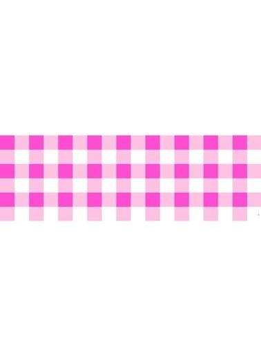 Artikel Pembe Mini Kare Desenli Runner Masa Örtüsü 43,5X141,5Cm Renkli